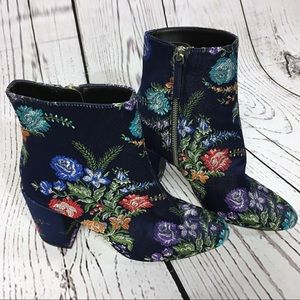 🌹HP!🌹 Zara | blue embroidered floral booties